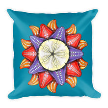 A Dollar for Your Sea Stars Square Pillow by Amanda Martinson