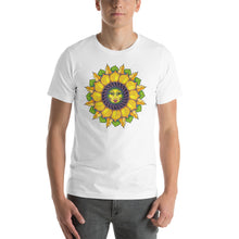 Sunflower Sunshine Girl Short-Sleeve Unisex T-Shirt up to 4X by Amanda Martinson Tshirts White / S {{ crystalmagicdesigns }}