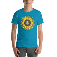 Sunflower Sunshine Girl Short-Sleeve Unisex T-Shirt up to 4X by Amanda Martinson Tshirts Aqua / S {{ crystalmagicdesigns }}