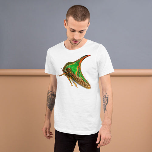 Insect Unisex T-Shirt of a Treehopper Tshirts White / S {{ crystalmagicdesigns }}