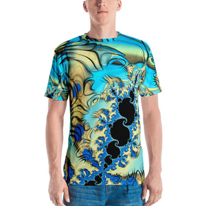 "Men's Fractal 3D T-shirt ""Wind Tunnels"" T-shirt XS {{ crystalmagicdesigns }}"