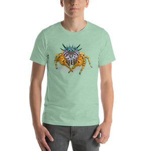 Insect Unisex T-Shirt Bad Hair Day jumping spider Tshirts Heather Prism Mint / S {{ crystalmagicdesigns }}