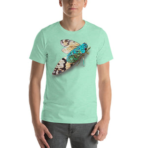 Insect Unisex T-Shirt blue cicada from Costa Rica