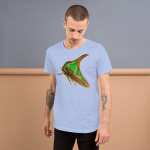 Insect Unisex T-Shirt of a Treehopper Tshirts Heather Blue / S {{ crystalmagicdesigns }}