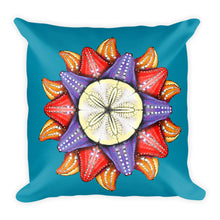 "A Dollar for Your Sea Stars Square Pillow by Amanda Martinson 18"" x 18"" pillow {{ crystalmagicdesigns }}"