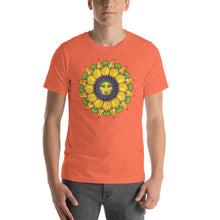 Sunflower Sunshine Girl Short-Sleeve Unisex T-Shirt up to 4X by Amanda Martinson Tshirts Heather Orange / S {{ crystalmagicdesigns }}