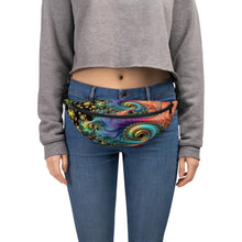 Fanny Pack Fractal Design Anti-Theft Cross Body fanny pack S/M {{ crystalmagicdesigns }}