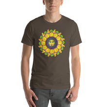 Sunflower Sunshine Girl Short-Sleeve Unisex T-Shirt up to 4X by Amanda Martinson Tshirts Army / S {{ crystalmagicdesigns }}