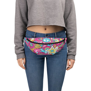 Fanny Pack Retro Hippie Anti-Theft Cross Body fanny pack S/M {{ crystalmagicdesigns }}