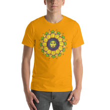 Sunflower Sunshine Girl Short-Sleeve Unisex T-Shirt up to 4X by Amanda Martinson Tshirts Gold / S {{ crystalmagicdesigns }}