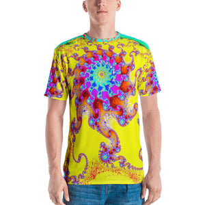 "Men's Fractal T-shirt 3D print Funkadelic ""Tropical Octopus"" T-shirt XS {{ crystalmagicdesigns }}"