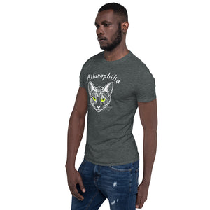 "Cat Lover T-Shirt for Men or Women ""Ailurophilia"""