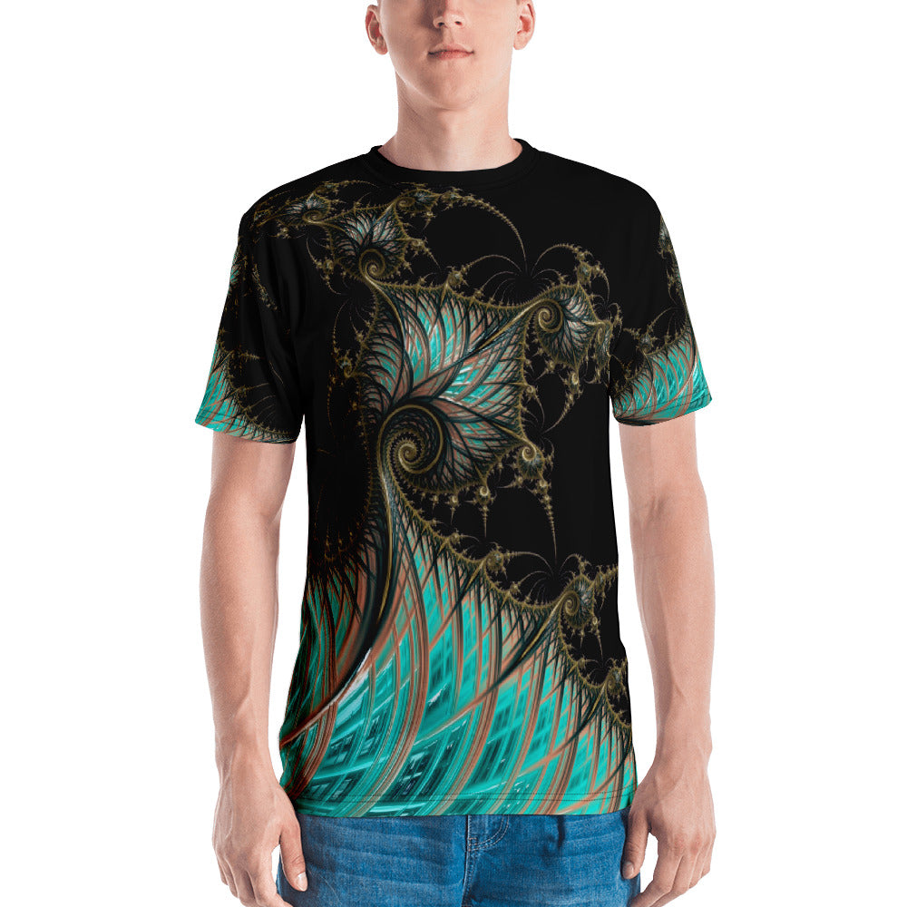 "Fractal men's 3D print tshirt ""Steam Punk Revival"" T-shirt XS {{ crystalmagicdesigns }}"