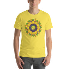 Sunflower Sunshine Girl Short-Sleeve Unisex T-Shirt up to 4X by Amanda Martinson Tshirts Yellow / S {{ crystalmagicdesigns }}