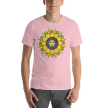 Sunflower Sunshine Girl Short-Sleeve Unisex T-Shirt up to 4X by Amanda Martinson Tshirts Pink / S {{ crystalmagicdesigns }}