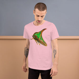 Insect Unisex T-Shirt of a Treehopper Tshirts Pink / S {{ crystalmagicdesigns }}