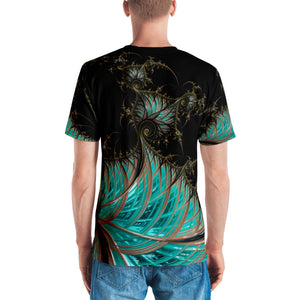 "Fractal men's 3D print tshirt ""Steam Punk Revival"" T-shirt {{ crystalmagicdesigns }}"