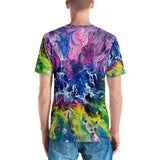 Men's 3D print T-shirt Rainbow Splash T-shirt {{ crystalmagicdesigns }}