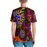 "Men's Fractal 3D Tshirt ""Fractal Forest"" T-shirt {{ crystalmagicdesigns }}"