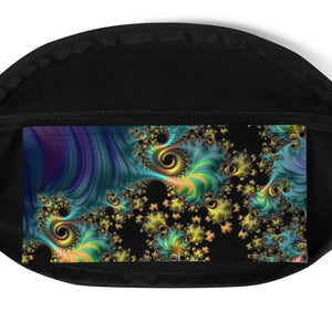 Fanny Pack Fractal Design Anti-Theft Cross Body fanny pack {{ crystalmagicdesigns }}