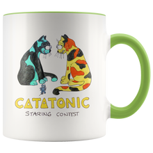 "Cat Accent Mug ""Catatonic"" in 7 colors"