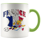 Soccer Accent Mug Collector's Women's World Cup 2019 Mugs-soccer Green {{ crystalmagicdesigns }}