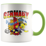 Germany Women's Soccer Accent Mug 2019 world cup Mugs-soccer Green {{ crystalmagicdesigns }}