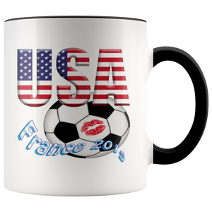 USA Women's World Cup Collector Mug 2019 Mugs-soccer Black {{ crystalmagicdesigns }}