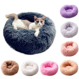 Plush Round Luxurious Pet Bed pet bed {{ crystalmagicdesigns }}