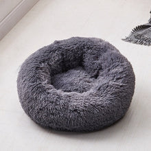 Plush Round Luxurious Pet Bed pet bed dark gray / OD 80 cm {{ crystalmagicdesigns }}