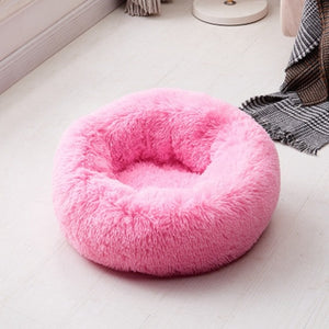 Plush Round Luxurious Pet Bed pet bed pink 1 / OD 80 cm {{ crystalmagicdesigns }}
