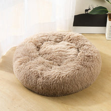 Plush Round Luxurious Pet Bed pet bed light brown / OD 60 cm {{ crystalmagicdesigns }}