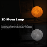 3D Print Moon Globe Lamp With Stand moon lamp {{ crystalmagicdesigns }}
