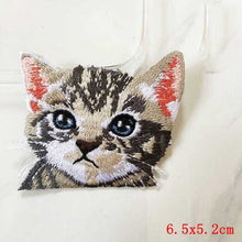 Pocket Cat Patch High Quality Lifelike 3D Embroidery Patches Iron On Cute Cat Applique For Jeans applique patch Antique Brass {{ crystalmagicdesigns }}