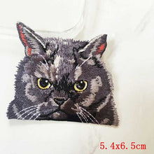 Pocket Cat Patch High Quality Lifelike 3D Embroidery Patches Iron On Cute Cat Applique For Jeans applique patch Antique Silver {{ crystalmagicdesigns }}