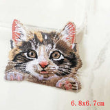 Pocket Cat Patch High Quality Lifelike 3D Embroidery Patches Iron On Cute Cat Applique For Jeans applique patch Antique Zinc {{ crystalmagicdesigns }}
