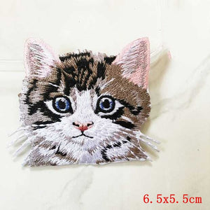 Pocket Cat Patch High Quality Lifelike 3D Embroidery Patches Iron On Cute Cat Applique For Jeans applique patch Black Nickel {{ crystalmagicdesigns }}