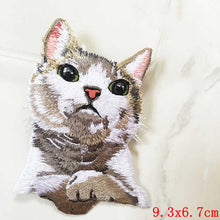 Pocket Cat Patch High Quality Lifelike 3D Embroidery Patches Iron On Cute Cat Applique For Jeans applique patch Copper {{ crystalmagicdesigns }}