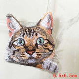 Pocket Cat Patch High Quality Lifelike 3D Embroidery Patches Iron On Cute Cat Applique For Jeans applique patch Laser Bright {{ crystalmagicdesigns }}