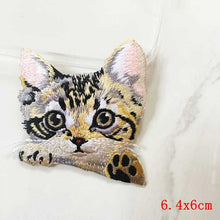Pocket Cat Patch High Quality Lifelike 3D Embroidery Patches Iron On Cute Cat Applique For Jeans applique patch Multi-Colored {{ crystalmagicdesigns }}