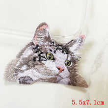 Pocket Cat Patch High Quality Lifelike 3D Embroidery Patches Iron On Cute Cat Applique For Jeans applique patch Nickel {{ crystalmagicdesigns }}