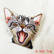 Pocket Cat Patch High Quality Lifelike 3D Embroidery Patches Iron On Cute Cat Applique For Jeans applique patch Nickel-Free White {{ crystalmagicdesigns }}