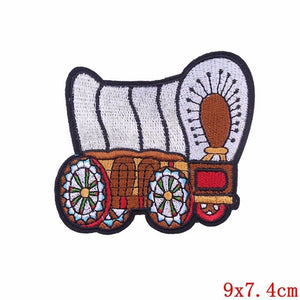 Pulaqi Sew On Applique Rainbow Mushroom Unicorn Patch Embroidery Iron On Cartoon Patches For Kids Clothes Jacket Hat Badge H Brown {{ crystalmagicdesigns }}