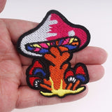 Pulaqi Sew On Applique Rainbow Mushroom Unicorn Patch Embroidery Iron On Cartoon Patches For Kids Clothes Jacket Hat Badge H Green {{ crystalmagicdesigns }}