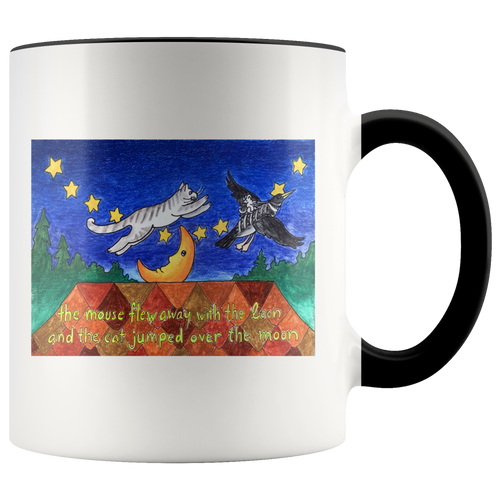 Cat Mug Jumped Over the Moon in 7 colors