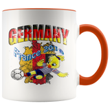 Germany Women's Soccer Accent Mug 2019 world cup Mugs-soccer Orange {{ crystalmagicdesigns }}