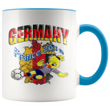 Germany Women's Soccer Accent Mug 2019 world cup Mugs-soccer Blue {{ crystalmagicdesigns }}
