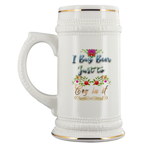 Cry in My Beer Stein Girly Design