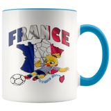 Soccer Accent Mug Collector's Women's World Cup 2019 Mugs-soccer Blue {{ crystalmagicdesigns }}