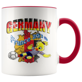Germany Women's Soccer Accent Mug 2019 world cup Mugs-soccer Red {{ crystalmagicdesigns }}